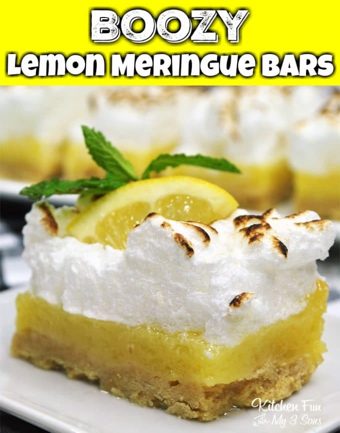 Boozy Lemon Meringue Bars