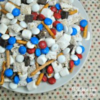 Patriotic S'mores Chex Mix