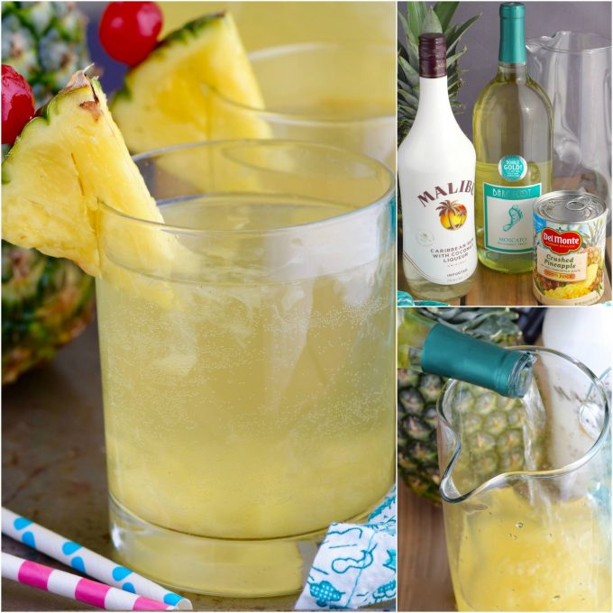 Pina Colada Sangria - Over 40 of the BEST Summer Cocktails!