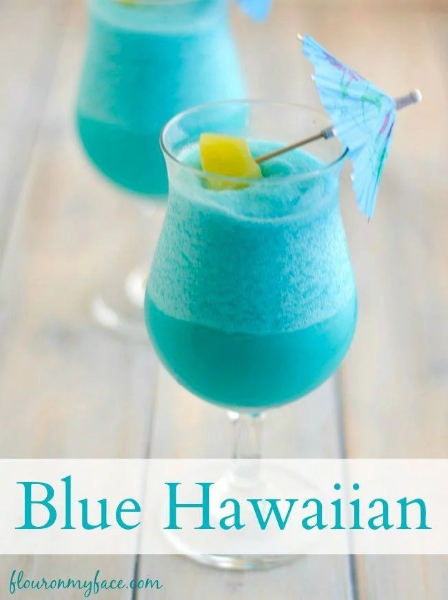 Blue Hawaiian Cocktail - Over 40 oft he BEST Cocktails!