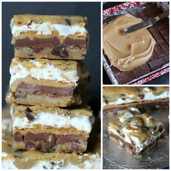 Peanut Butter S'mores Bars - best s'mores recipes