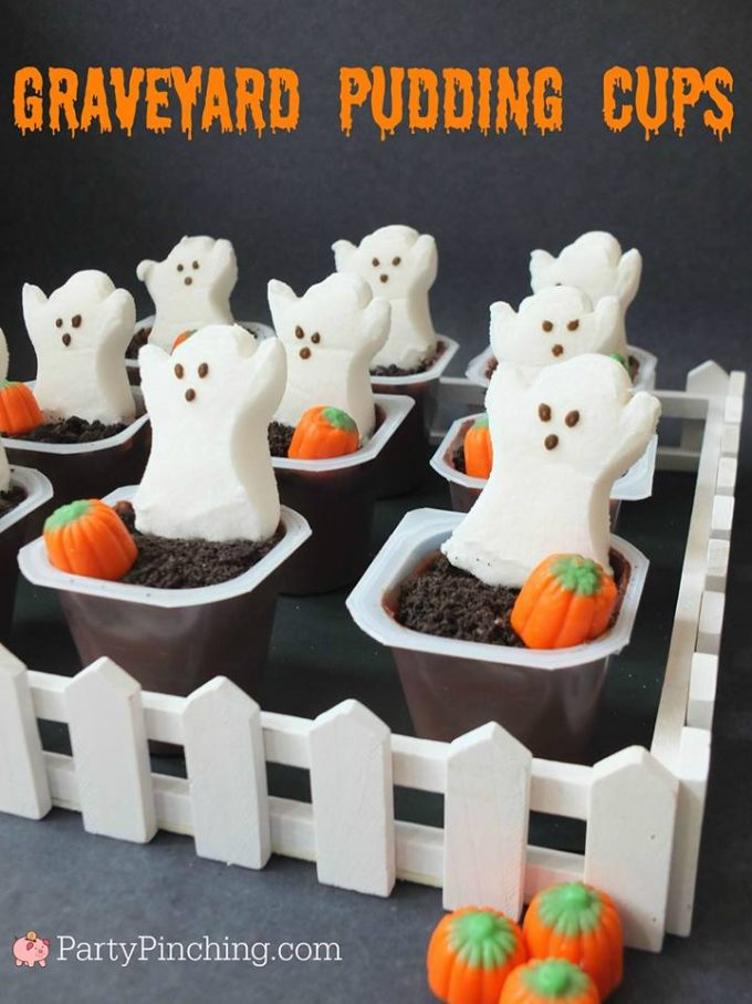 Graveyard Pudding Cups...BEST Halloween Treat ideas!