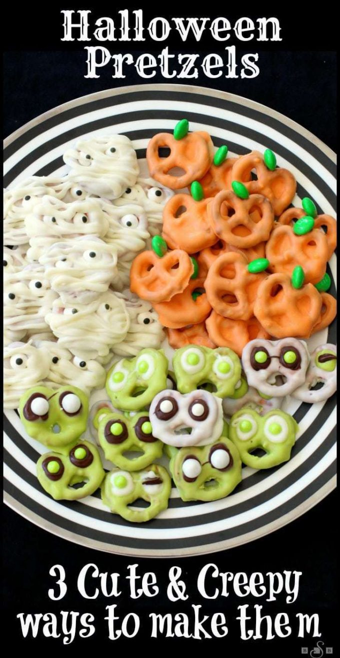 Halloween Pretzels 3 Ways - BEST Halloween Treat ideas!