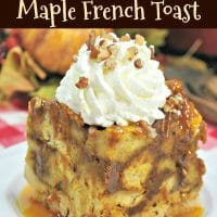 Crock-Pot Pumpkin Maple French Toast Casserole