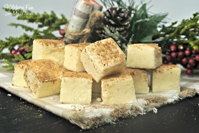 Eggnog Fudge | Yummy Chrismas fudge recipe with Eggnog