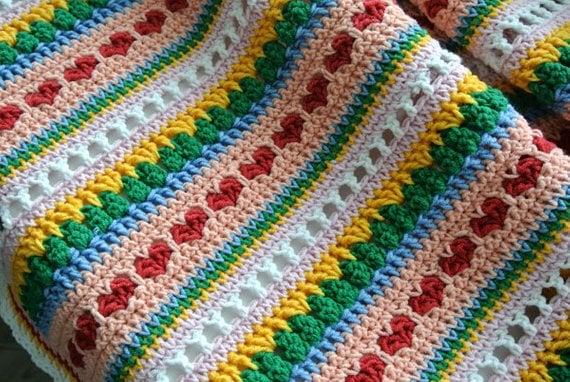 Crochet Heart Stitch Blanket