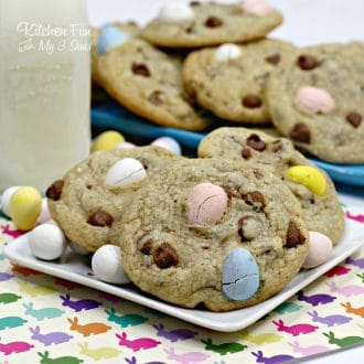 Easter cookies with malted eggs inside are so yummy! These are the perfect Easter treat to make and take to family gatherings.