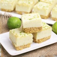Key Lime Pie Fudge is like having tiny bites of pie right at your finger tips. With a graham cracker crust and chocolate key lime pie on top you won't be able to stop eating it.