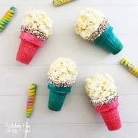 Popcorn Ball Ice Cream Cones