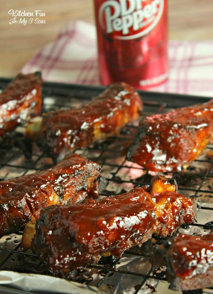 Dr. Pepper Ribs in the slow cooker absolutely fall off the bone and have the best flavor!
