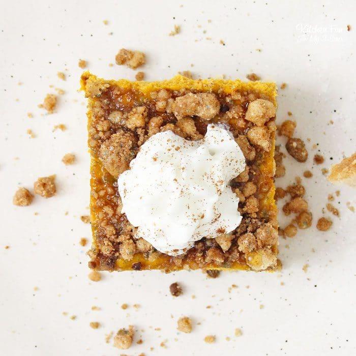 Shortbread Pumpkin Streusel Squares