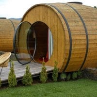 You Can Sip Wine and Sleep In a Giant Wine Barrel
