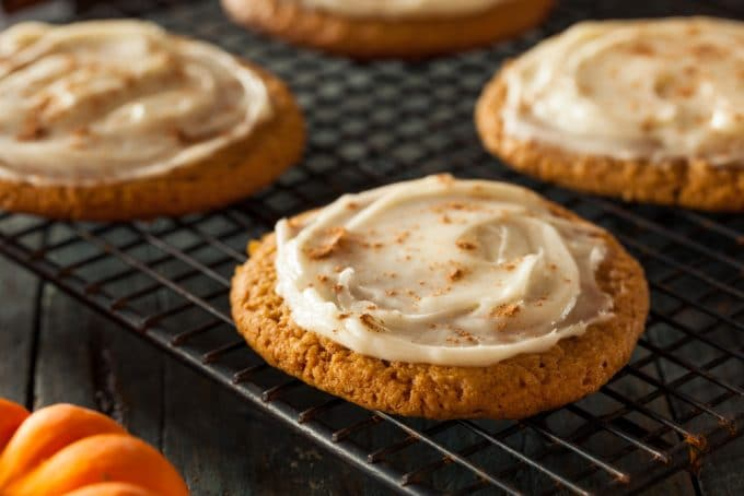 Soft Frosted Pumpkin Cookies