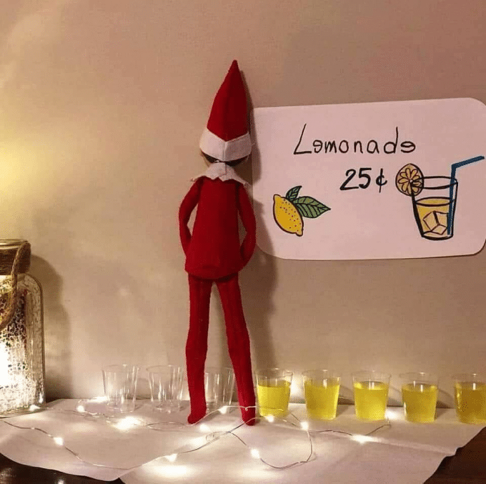 Lemonade - Naughty Elf on the Shelf