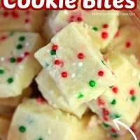 Christmas Funfetti Shortbread Cookie Bites
