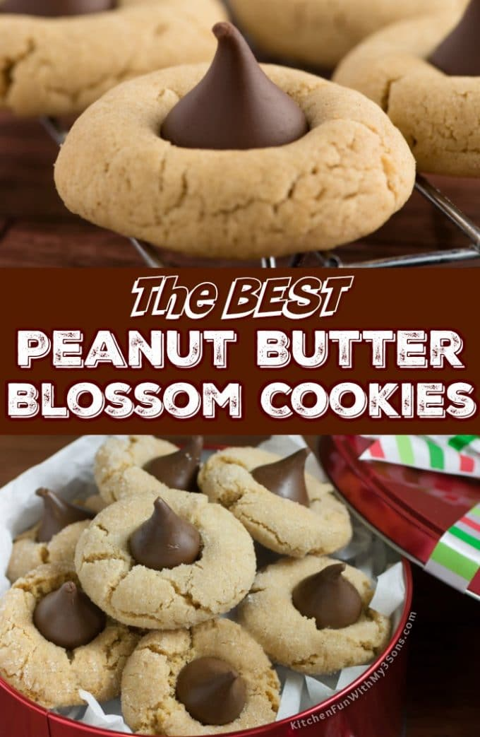 The BEST Peanut Butter Blossoms