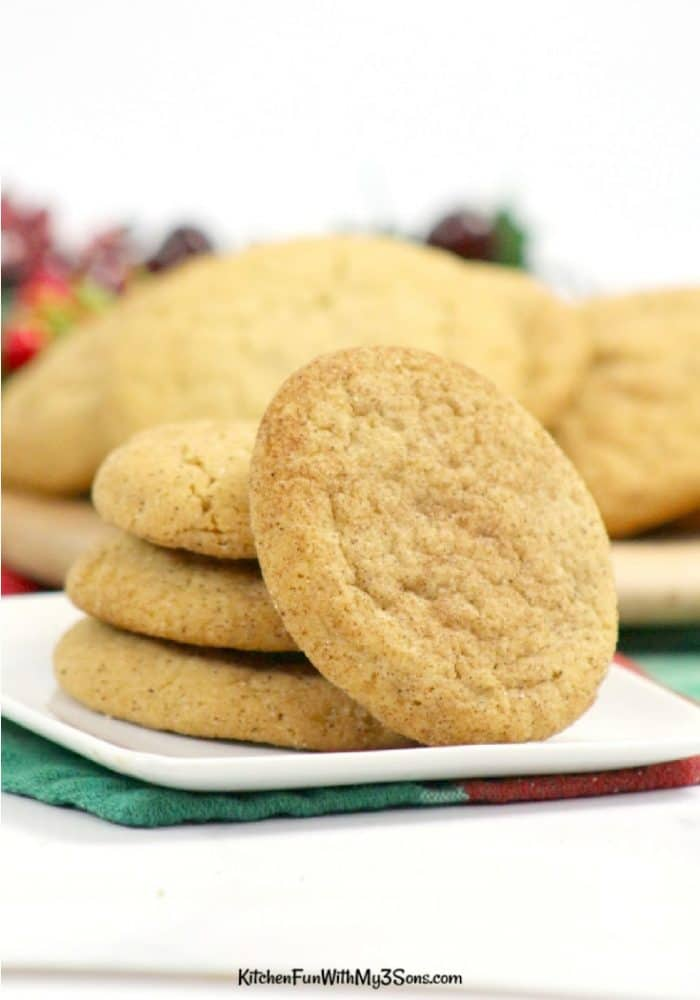 Stack of maple snickerdoodles