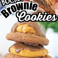 Buckeye Brownie Cookies