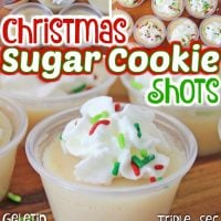 Christmas Sugar Cookie Jello Shots