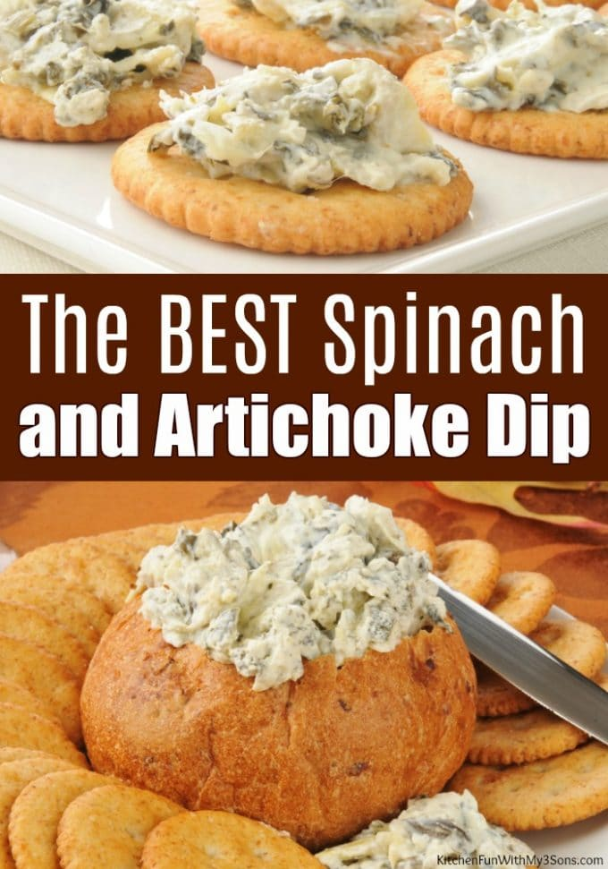 The BEST Spinach and Artichoke Dip
