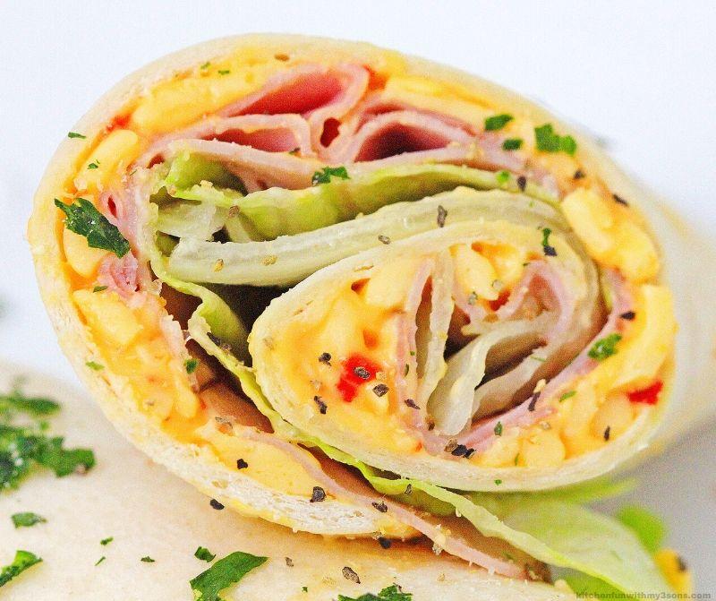 Ham and Pimento Cheese Sandwich Wrap