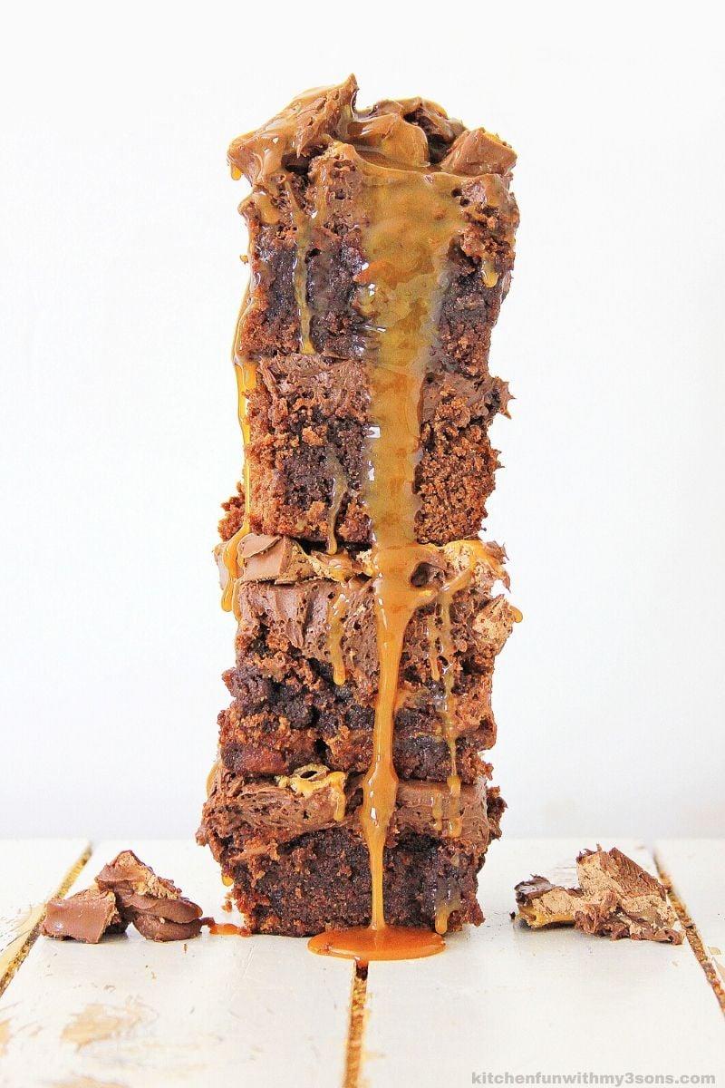 stack of Milky Way Brownies