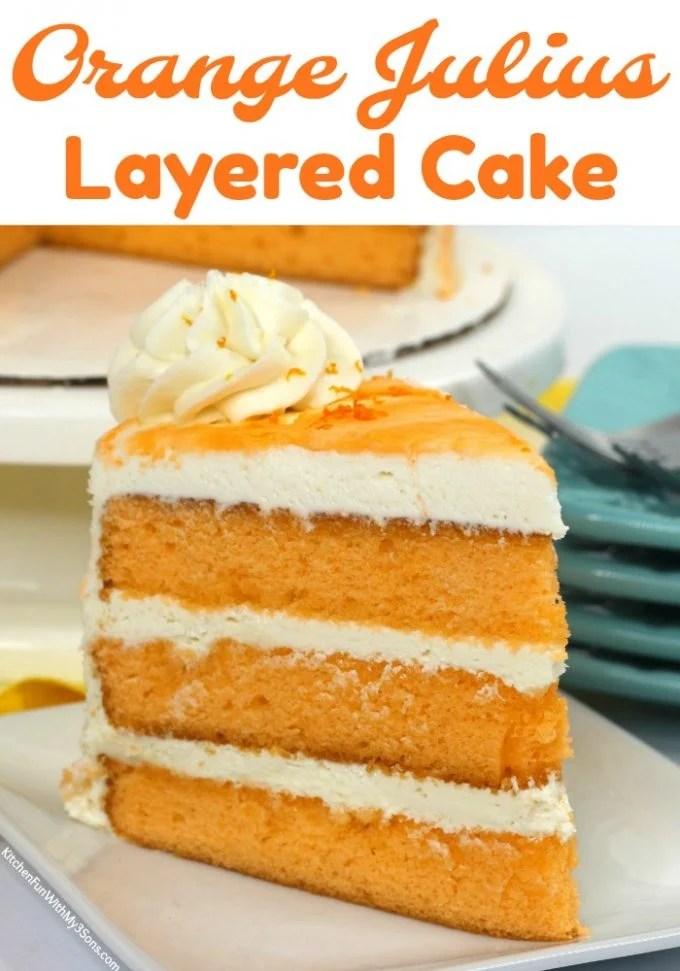 Layered Orange Cake