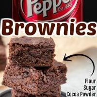 Dr Pepper Brownies