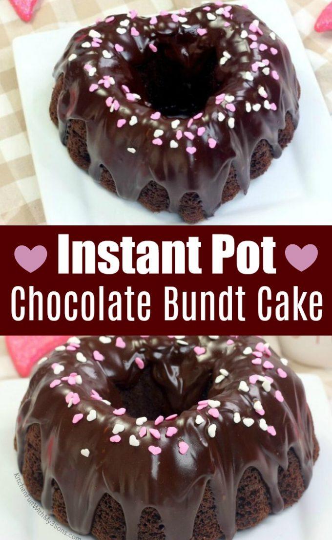 Instant Pot Chocolate Bundt Cake for Valentine's Day