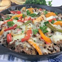 Skillet Philly Cheesesteak Casserole Recipe