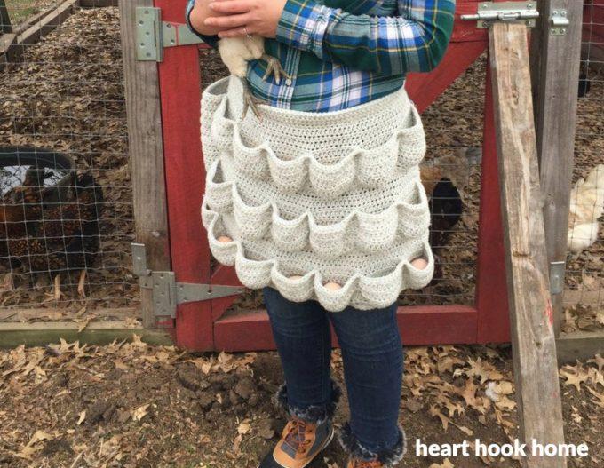 Crochet Apron that holds Chicken Eggs