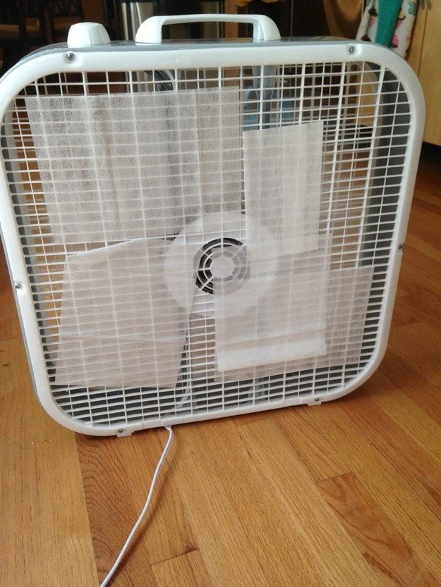 Keep your dorm room constantly smelling great and tape a dryer sheet in front of the fan or AC unit.