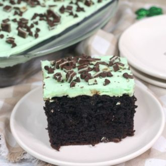 Andes Mint Poke Cake