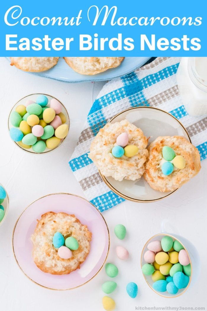 Coconut Macaroons Recipe Easter Birds Nests for pinterest