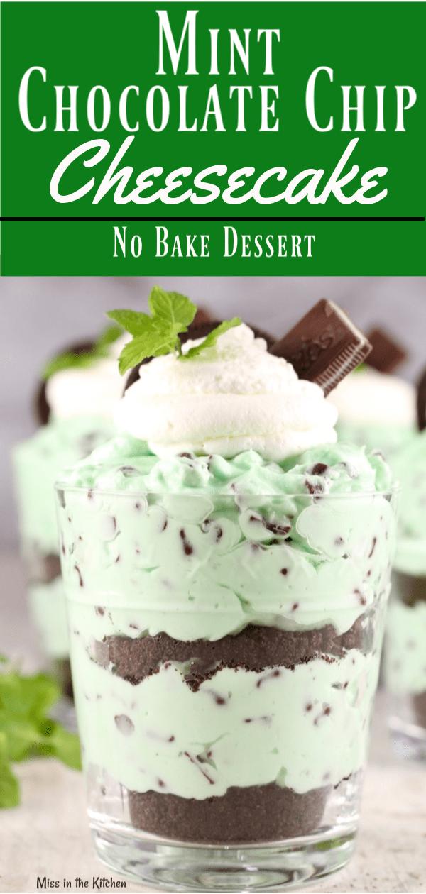 Mint Chocolate Chip Cheesecake Dessert