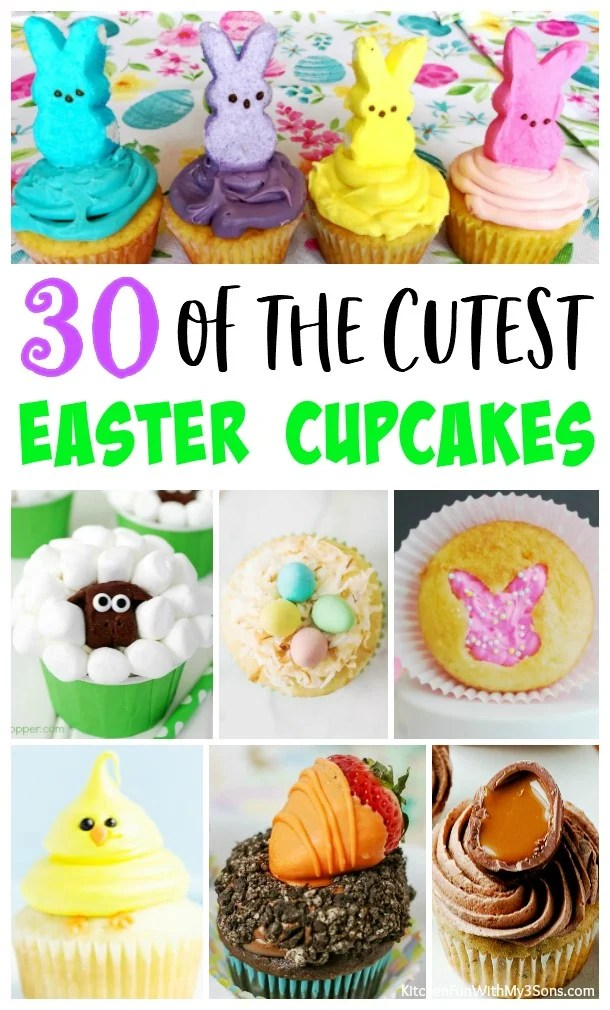 30 of the BEST Easter Cupcakes