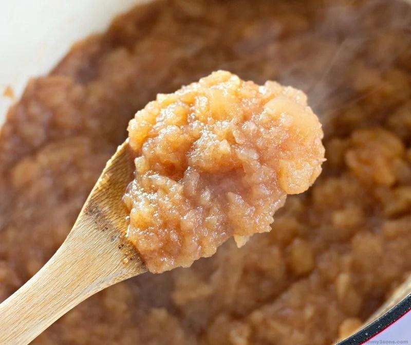applesauce on a spoon