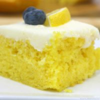 Homemade Lemon Sheet Cake with Cream Cheese Frosting