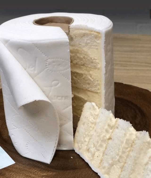 Toilet Paper Layered Cake