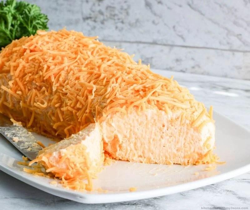 cheeseball cut open