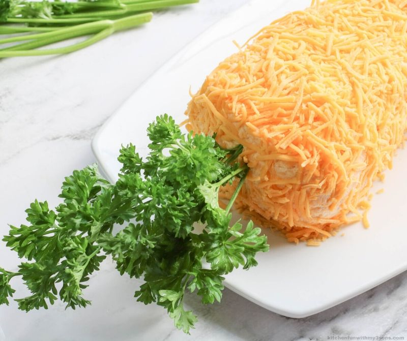 Carrot Shaped Easter Cheese Ball