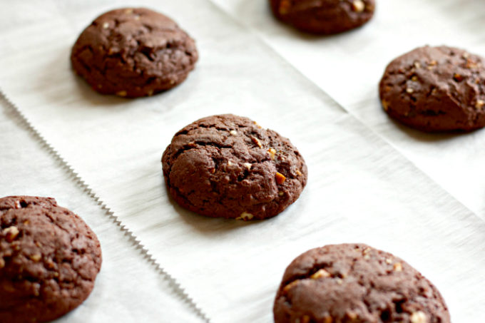 Texas Sheet Cake Cookies fresh from the oven