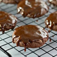 Frosted Chocolate Pecan Cookies