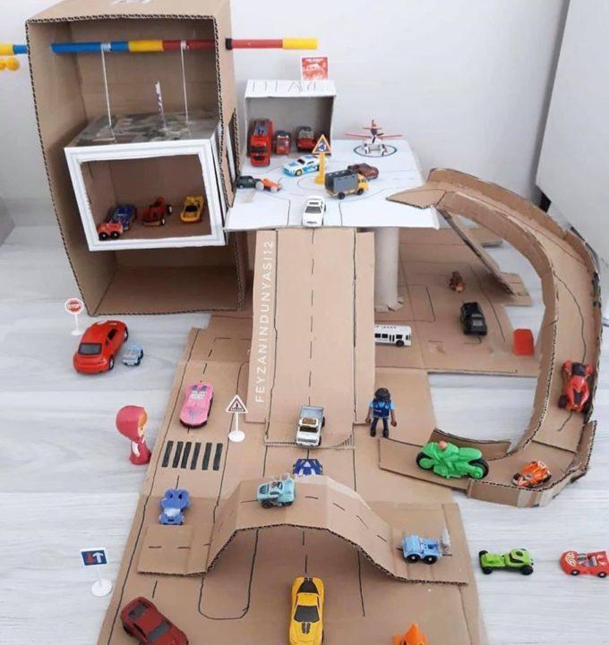 Cardboard Race Track