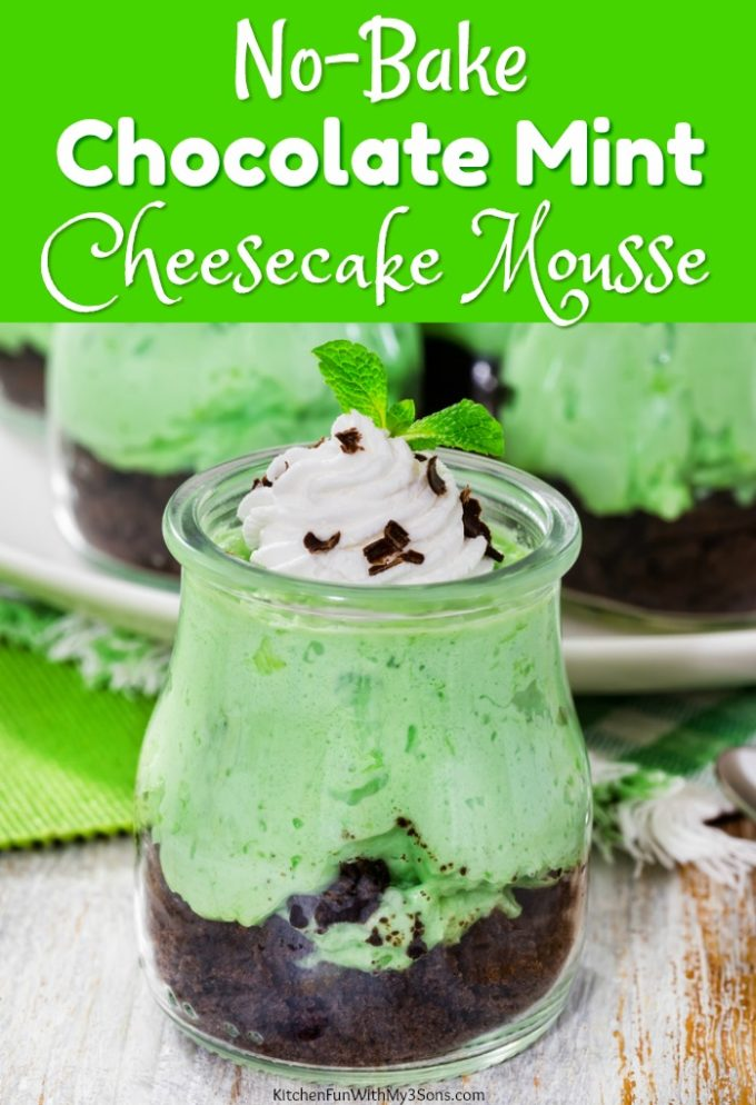 No-Bake Chocolate Mint Cheesecake Mousse