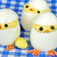 Deviled Egg Chicks for Easter