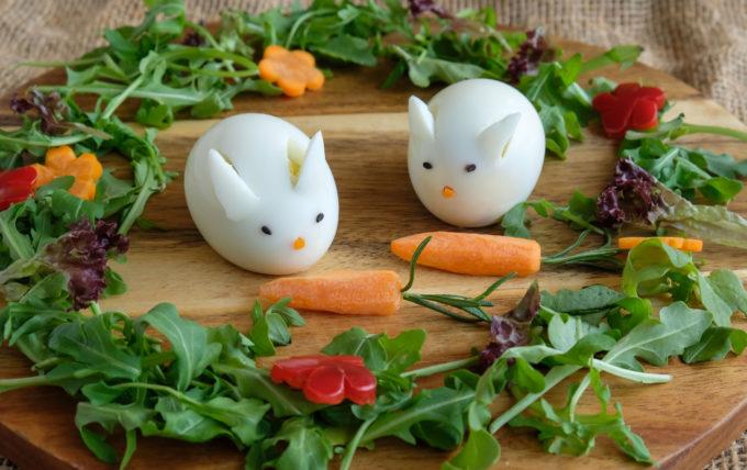 Easter Bunny Hard Boiled Eggs