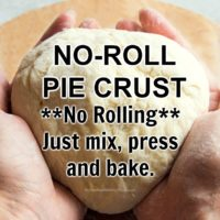 No-Roll Pie Crust Recipe