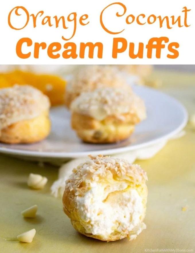Orange Coconut Cream Puffs