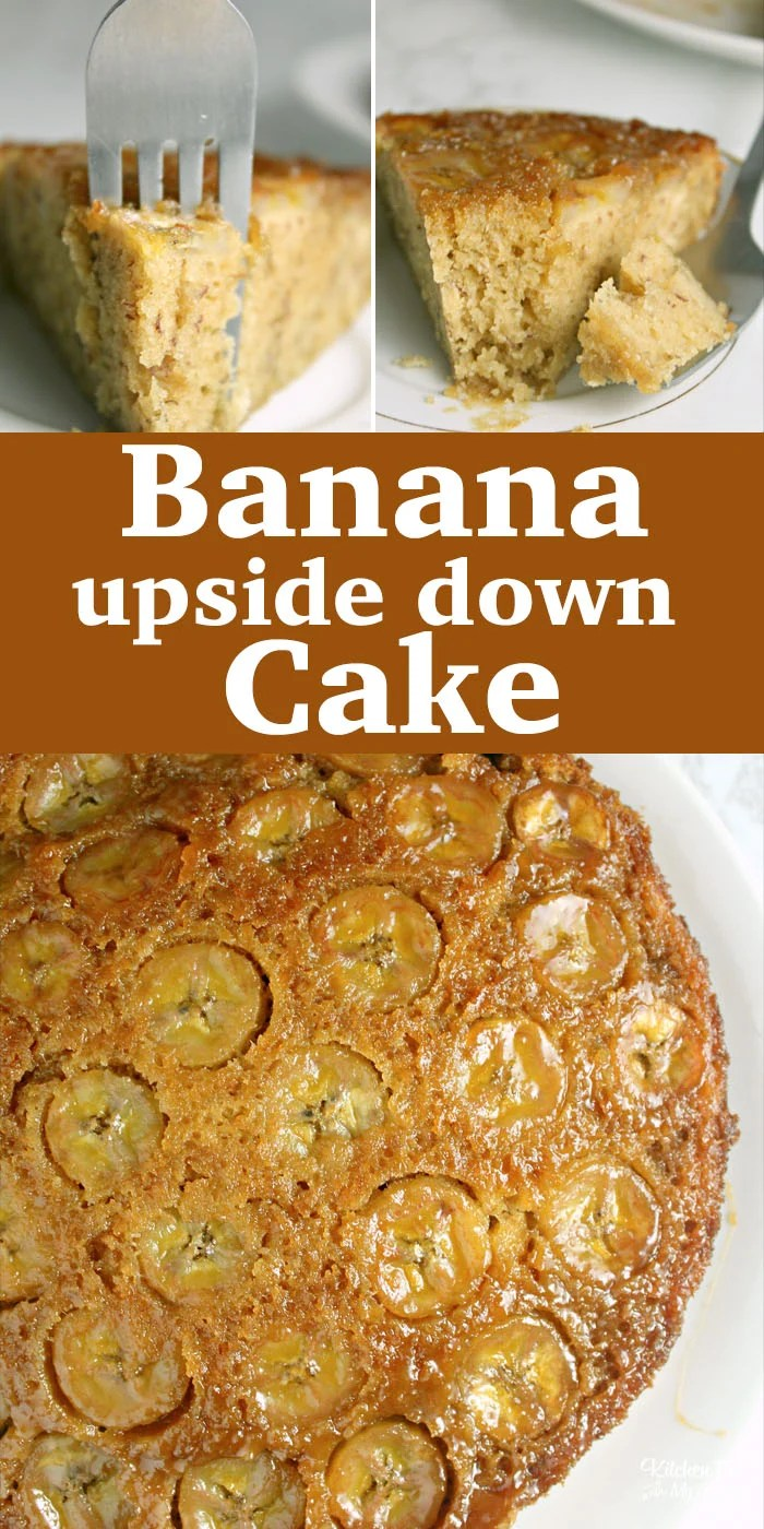 Banana Upside Down Cake is a yummy unique dessert that is like a combination of a pineapple upside down cake and banana bread.